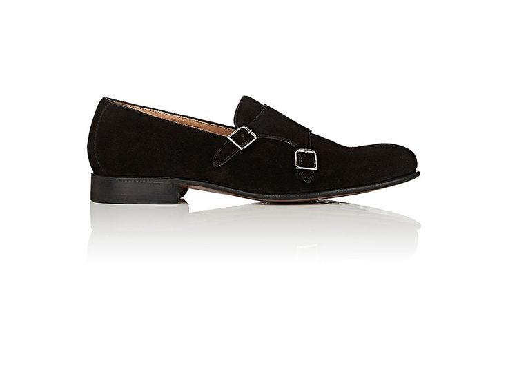 HARRIS SUEDE DOUBLE-MONK-STRAP LOAFERS. #harris #shoes #