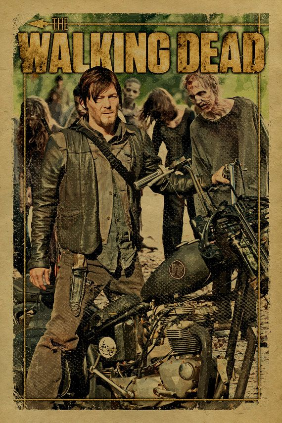 the walking dead poster featuring daryl dixon on by unclegertrudes the walking dead. Black Bedroom Furniture Sets. Home Design Ideas