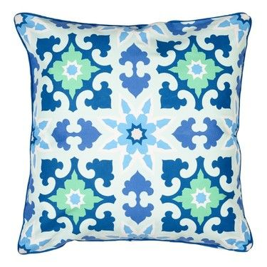 Ombre Home Tangier Moroccan Cushion Blue