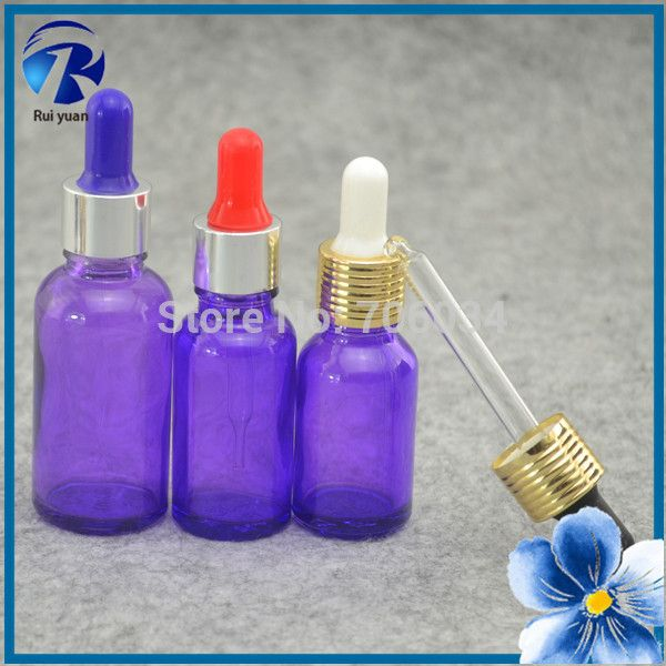 Dropper Glass Bottle Purple  Glass BottlesE Liquid For Electronic Cigarette 15 ml Glass Dropper  Mini Glass Bottles wholesale