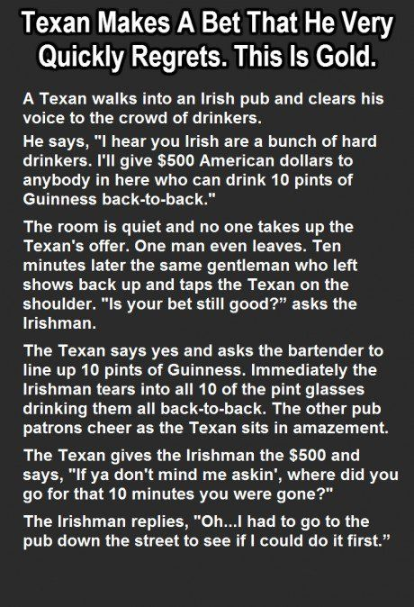 Texan Makes A Bet That He Very Quickly Regrets. This Is Gold.