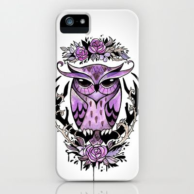 Hand-painted owl tattoo iPhone & iPod Case by The Fanatic Calligrapher - $35.00