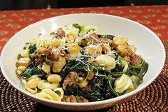 Pasta with Cannellini Beans and Sausage
