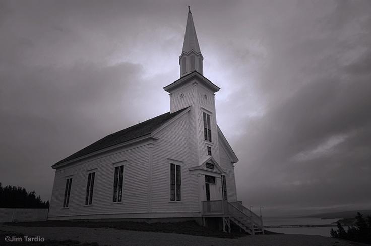 The town church at Highland Village on Cape Breton Island, Nova Scotia by Jim Tardio