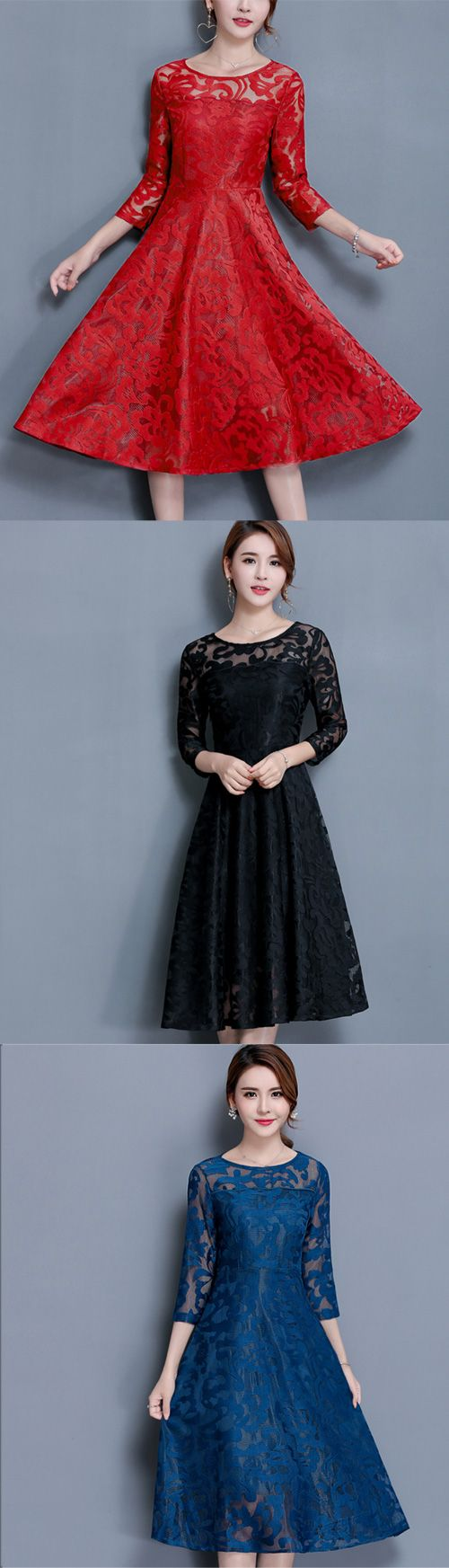 Women's Casual/Daily Plus Size Going out Street chic Lace Dress
