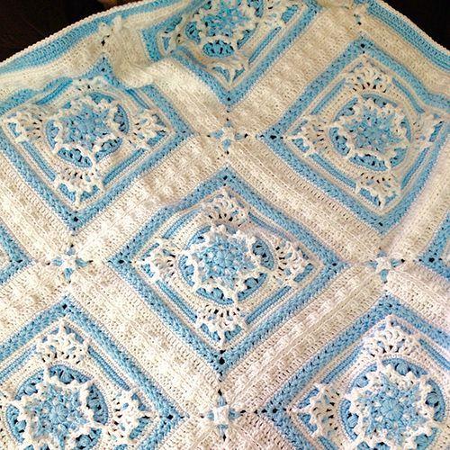 Blizzard Warning Afghan Free Crochet Pattern