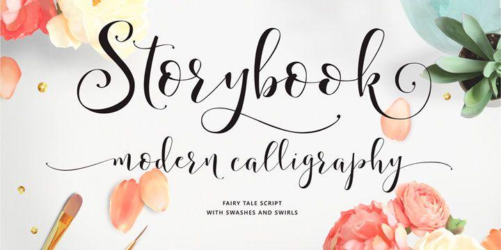 Storybook Calligraphy Script Font Download | Fonts | Pinterest