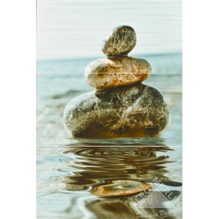 Декор Set Balance 3pz камни, 67,5x45 см, Универсальная декорация - Каталог Леруа Мерлен
