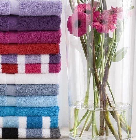 Handdoek van Dyck Prestige in vele kleuren, streep of uni kleur, Desert, Bleu, pink, turquoise, navy, black, zwart, grey, grijs.. slk theo bot badtextiel