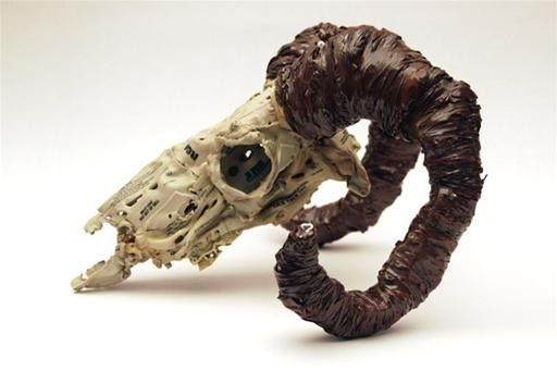 melting plastic into fabric - Google Search http://sculpting.wonderhowto.com/inspiration/sculpt-melted-cassette-tape-puddles-into-skulls-0113568/