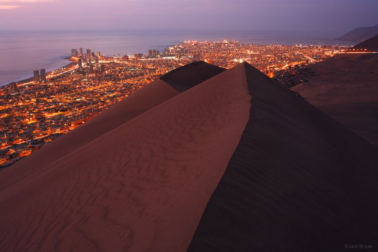 Iquique, Chile, Cerro Dragon, dune, city, photo