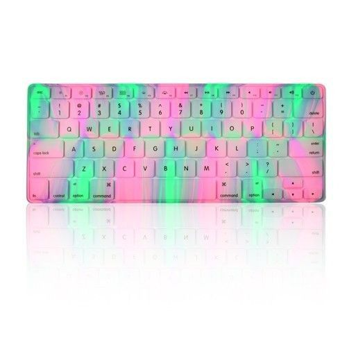 Abstract Lavender Spring Aurora Silicone Keyboard Cover for Macbook 13 – TOP CASE