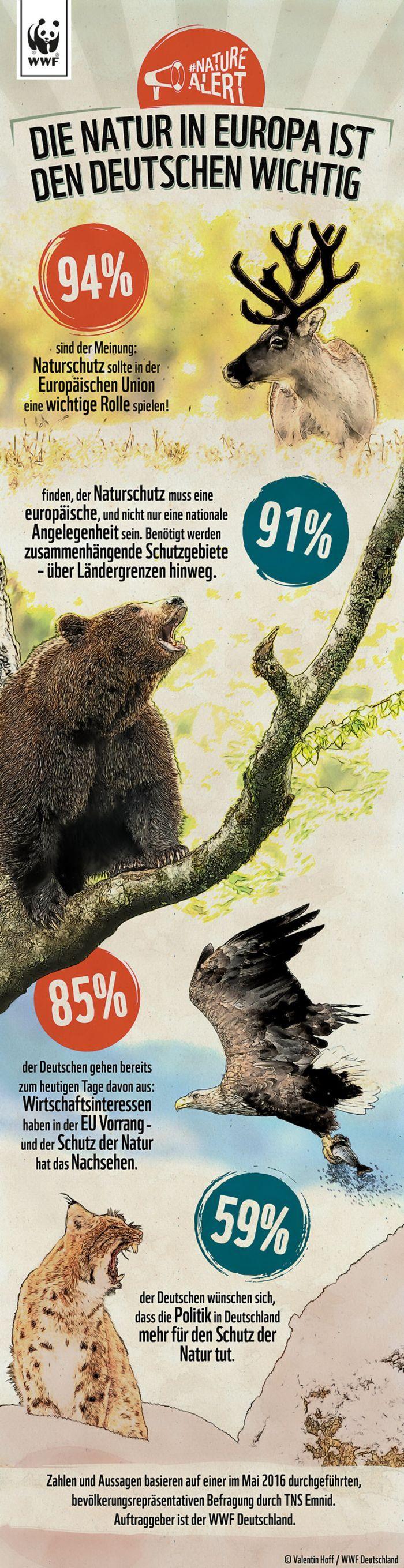 #NatureAlert: So wichtig ist den Deutschen die Natur Natur ist den Deutschen wichtig © Valentin Hoff / WWF atur ist den Deutschen wichtig © Valentin Hoff / WWF Zu Beginn der Kampagne #NatureAlert haben wir das Marktforschungsinstitut TNS Emnid beauftragt, eine bevölkerungsrepräsentative Umfrage durchzuführen. Wir wollten wissen: Welche Rolle spielt Natur für die Menschen in Deutschland_http://www.wwf.de/naturealert/europas-natur-in-gefahr/europas-natur-ist-den-deutschen-wichtig/?area=Bild