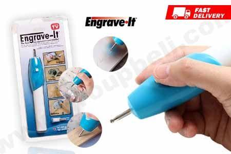 Ukirlah tulisan pada dasar bahan kayu, plastic, logam dengan Engrave It Pen hanya Rp 24.990