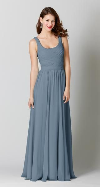 Slate blue bridesmaid dresses are a gorgeous new wedding trend! See why this color is easy to love, how to style it, and our most flattering slate blue dresses!