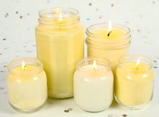 Eco Chic Candles made with recycled ingredients