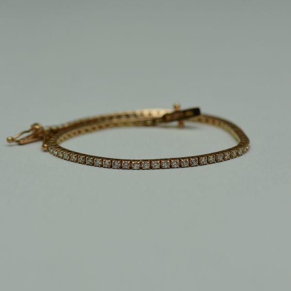 Bratara din aur roz 18k, cu diamante  #bratariauralb #brataricudiamante #diamante #diamondbracelets #diamonds