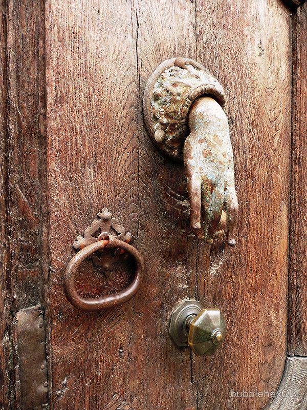 Hand Door Knocker ~ Bubblehex08 ~ Auvergne, France