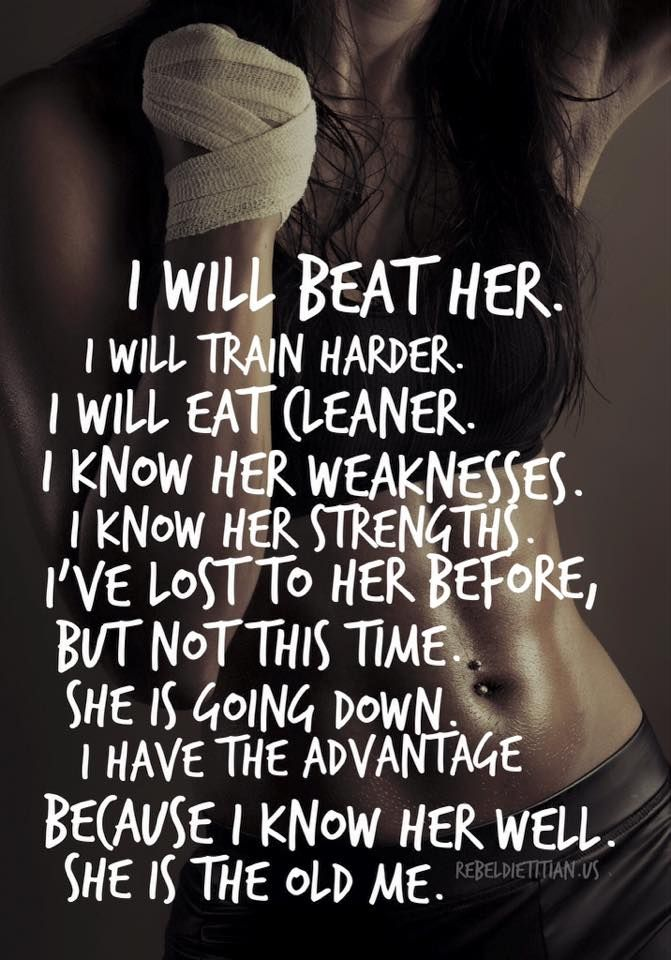 (1) I will beat her. :)) !! - Eat Clean. Train Mean. Live Green.
