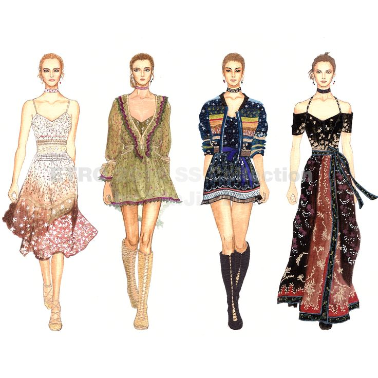 #ETRO #2016SS #collection #Fashion #Fashionillustration #Fashiondrawing #illustration #Fashionsketch #readytowear #runway