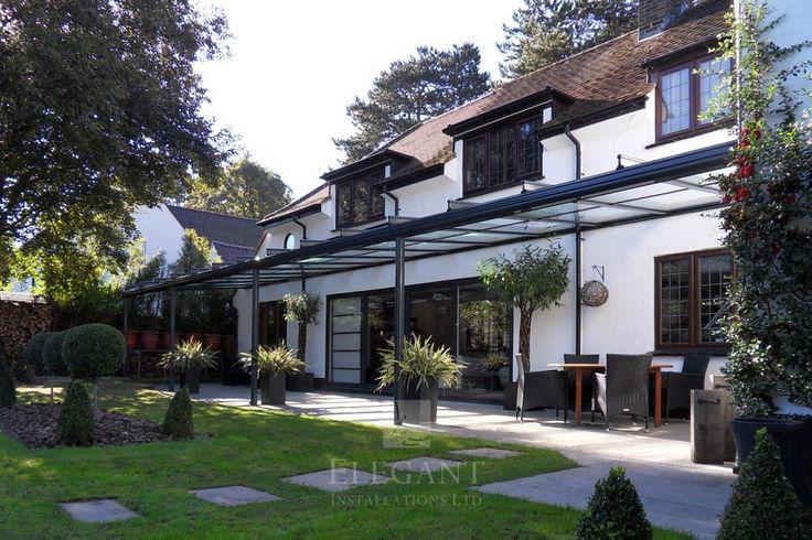 Large 14m Wide Glass Veranda in Surrey | Elegant