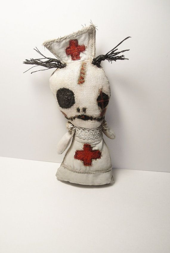 Handmade Art Doll Nursula by JunkerJane on Etsy