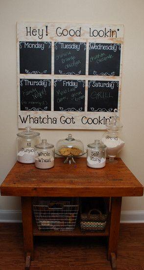 DIY Chalkboard Menu Planning Project Idea