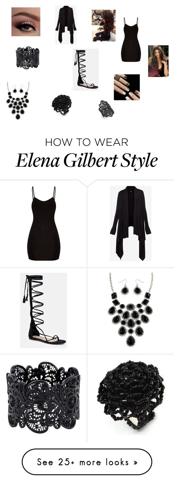 """""""Renesmee's Oufit for Dawn's Party"""" by singlemom on Polyvore featuring Ted Baker, JustFab and nOir"""