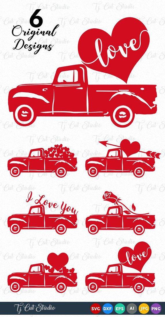 Valentine Truck Svg Truck Valentine Svg Happy Valentine S Day Svg