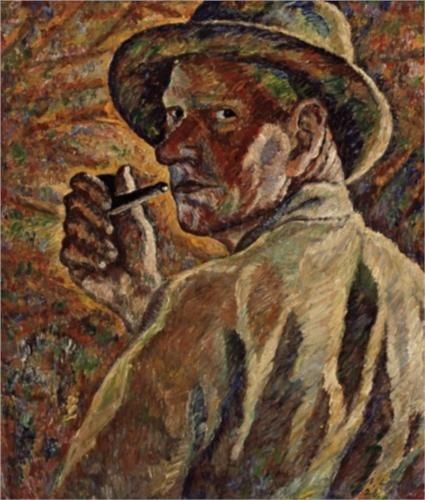 Self-portrait - Vilho Lampi (Finnish: 1898-1936)