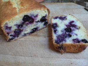 Low Fat Lemon Blueberry Loaf - Fiona Haynes