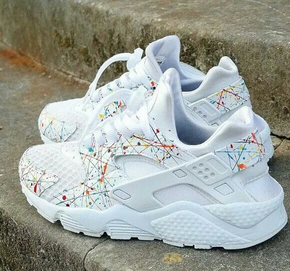 68ae9a0ad Paint splatter huaraches. I must find these! | Zapatos!!! in 2019 | Shoes, Nike  huarache, Sneakers