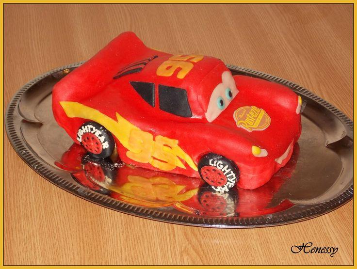 Villám McQueen torta - Lighting McQueen cake