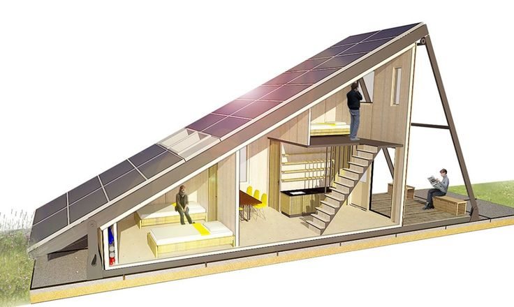 Solar Cabin: modular refugee housing with an energy-generating solar field… – Laurie Bradfield