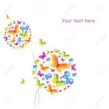 rajzolt-színes pillangó gömbök