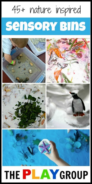 Sensory Bins Inspired by Nature... LOVE this entire blog