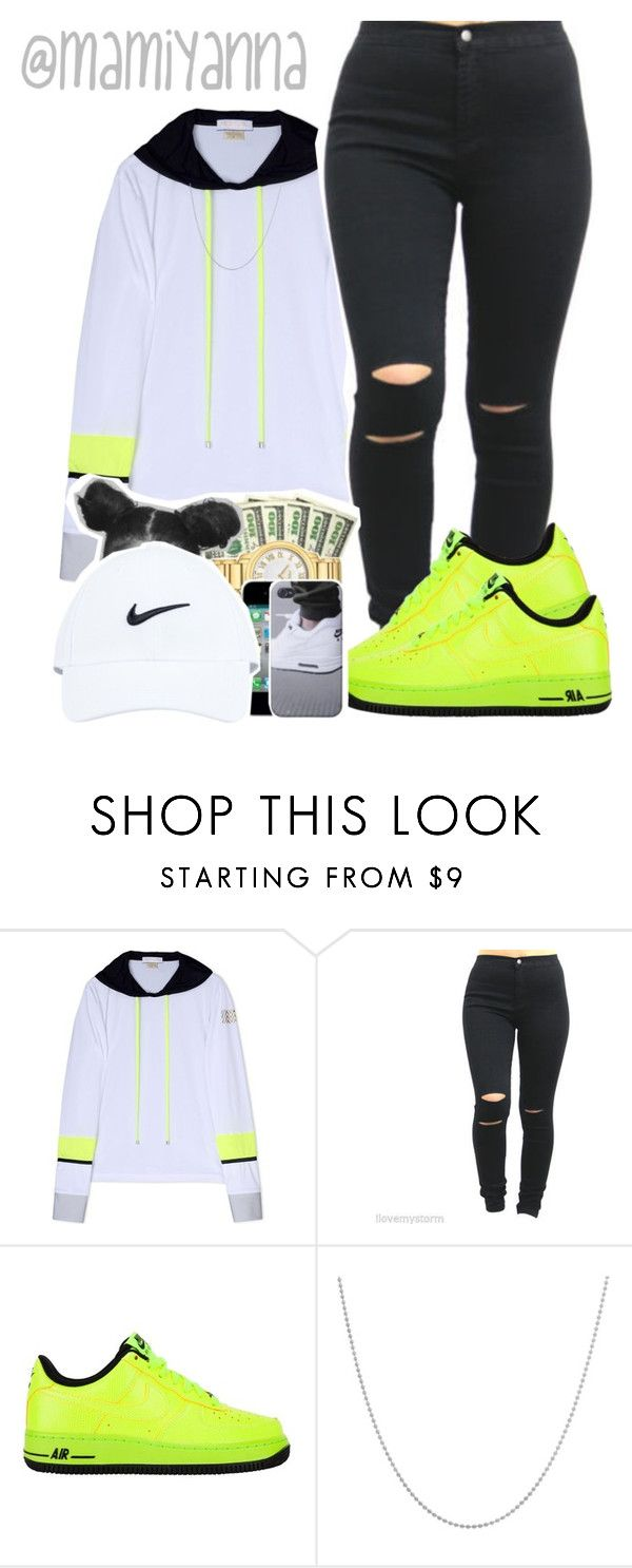 """Miss Mary Mack - Juicy J"" by mamiyanna ❤ liked on Polyvore featuring Monreal, NIKE and Sterling Essentials"