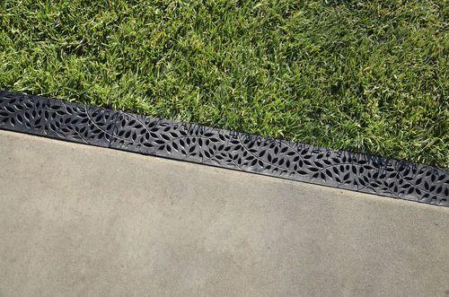 Caniveau de terrasse / en plastique / avec grille / de drainage MINI NDS
