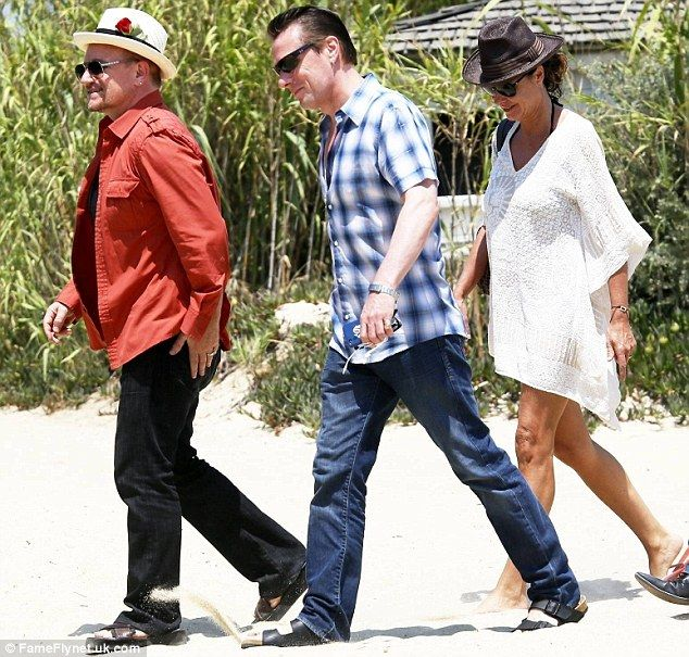 Bono and Ali Hewson hit French Riviera with Larry Mullen Jr