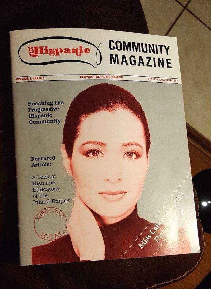 DIANA MAGANA Miss California USA HISPANIC COMMUNITY MAGAZINE 1987