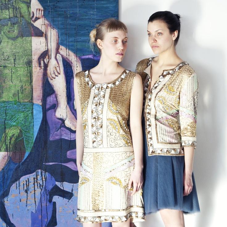 Mida Dress and Tirana Cardigan by Freebird    Tulle Skirt in Dark Blue by Cathrine Hammel