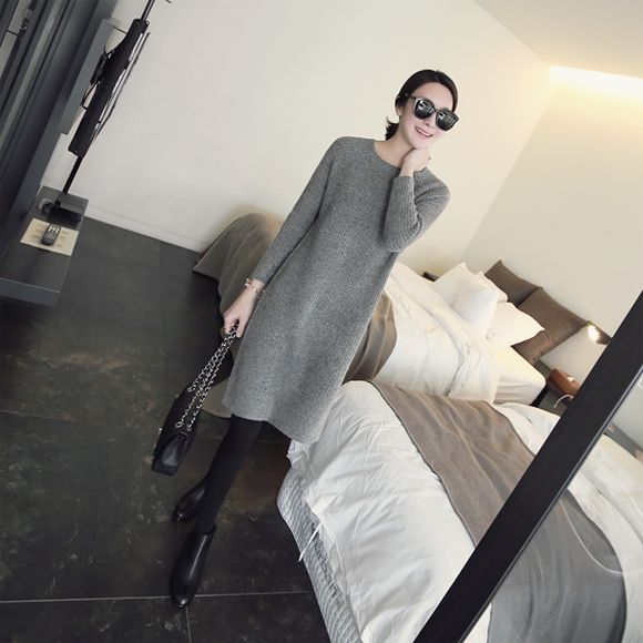 #LongSleeved #KnitDress from: http://mayblue.kr/product/long-sleeved-knit-dress/2136/?cate_no=1&display_group=3