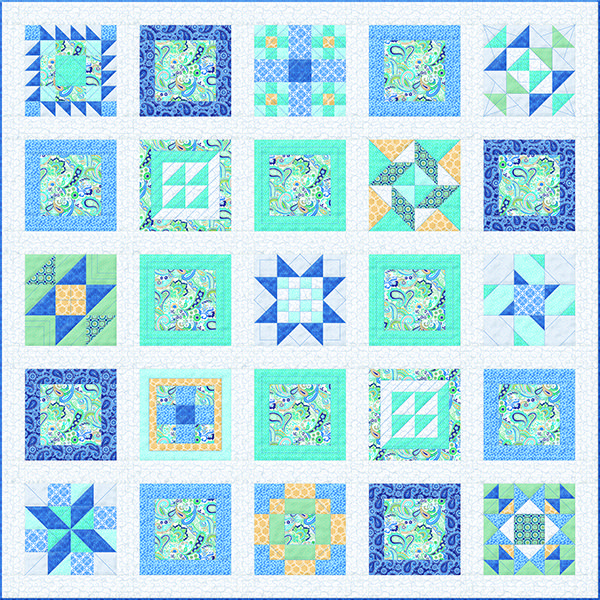 Indigo Square Quilt Block Of The Month Available In