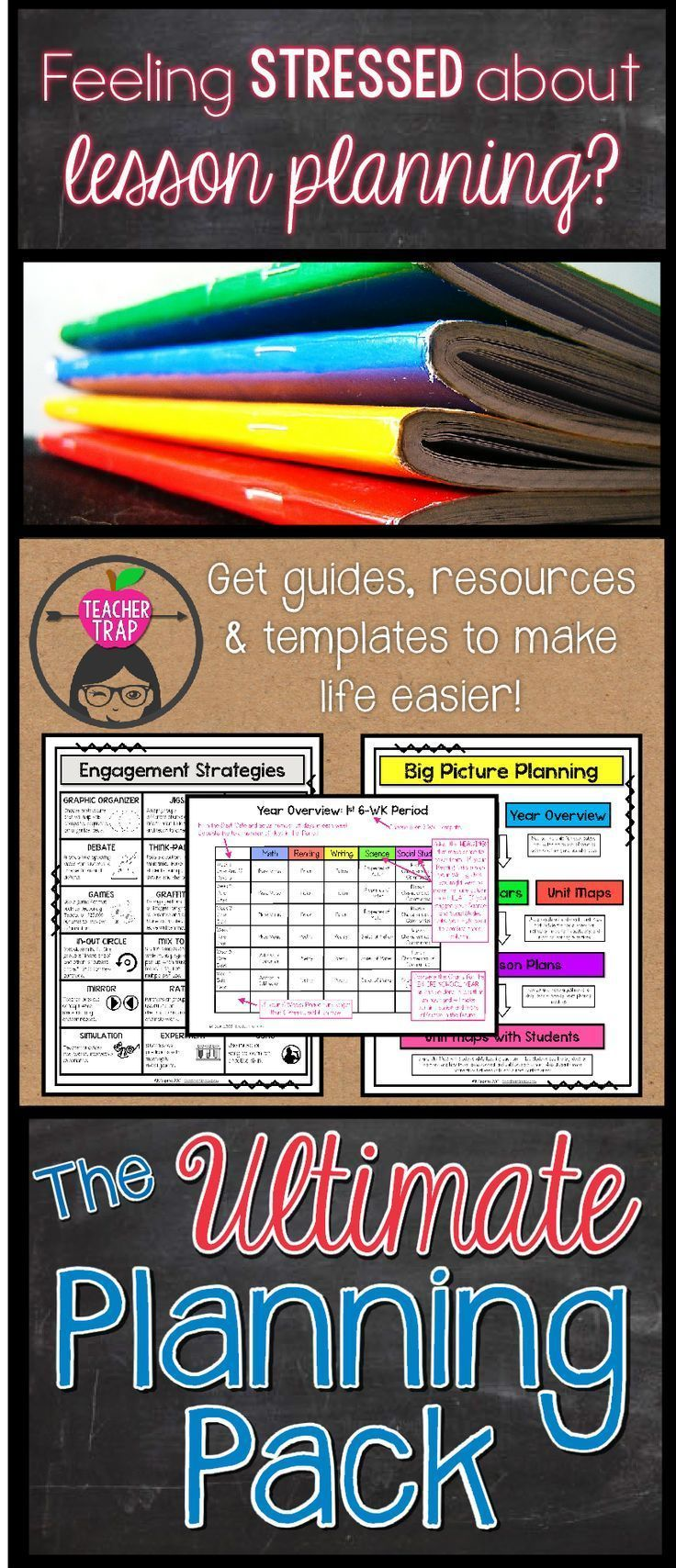 All the resources you need to rock lesson planning!  Editable templates, handy reference pages, planning guides and more!  Team planning just got a whole lot easier.