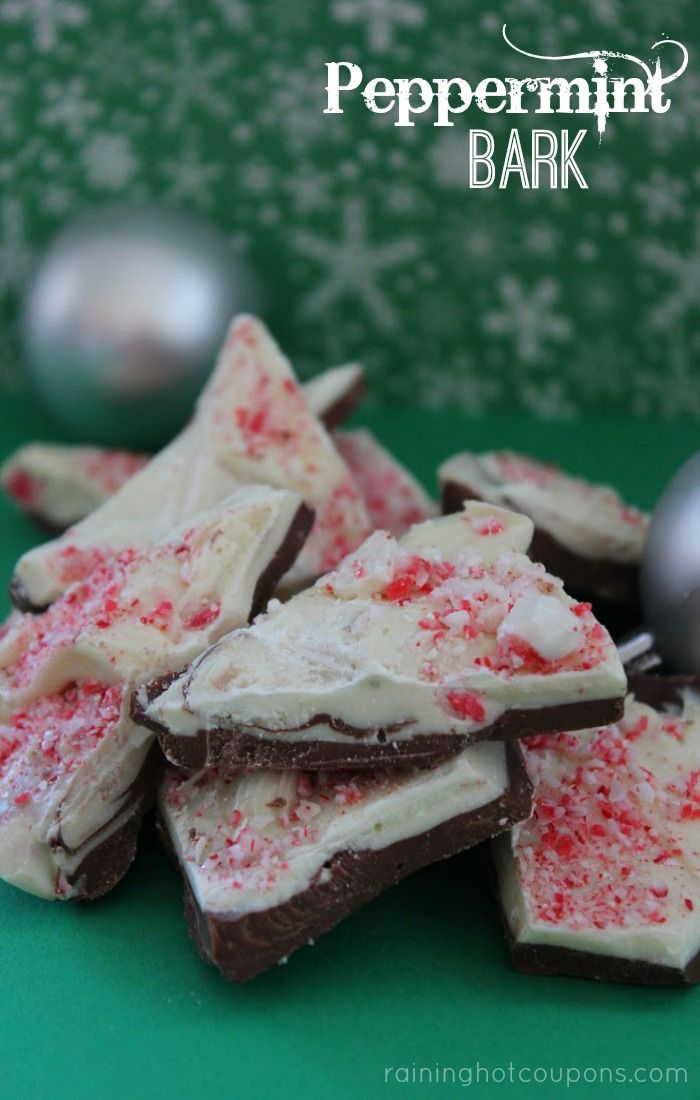 It's Bark and Cookies for Christmas!  Peppermint Bark Recipe - Raining Hot Coupons