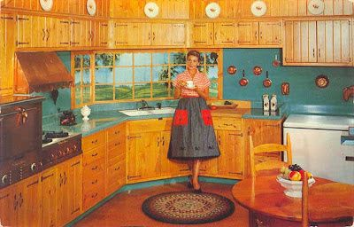 images of 1950s photos of colonial interiors | ... Wood-Mode custom designed kitchen is Colonial styled in knotty pine