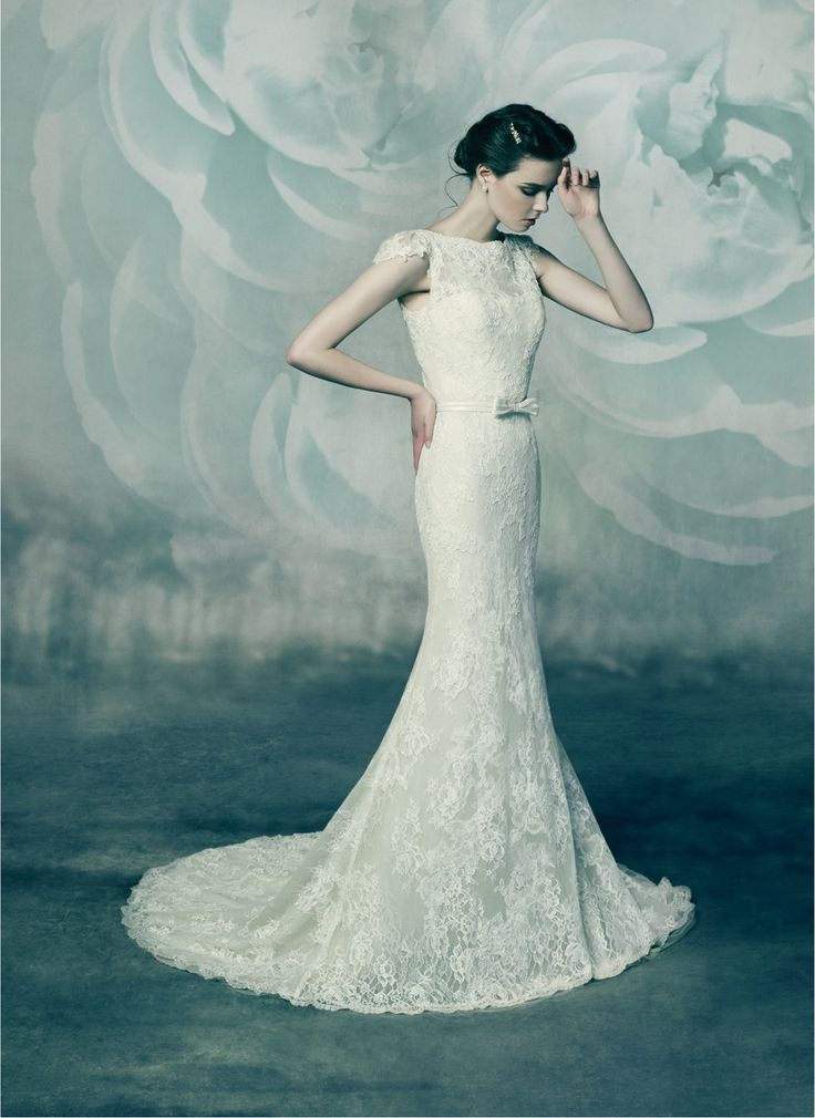 The Ivory Secret - blush tulle and ivory lace bridal gown from Annasul Y