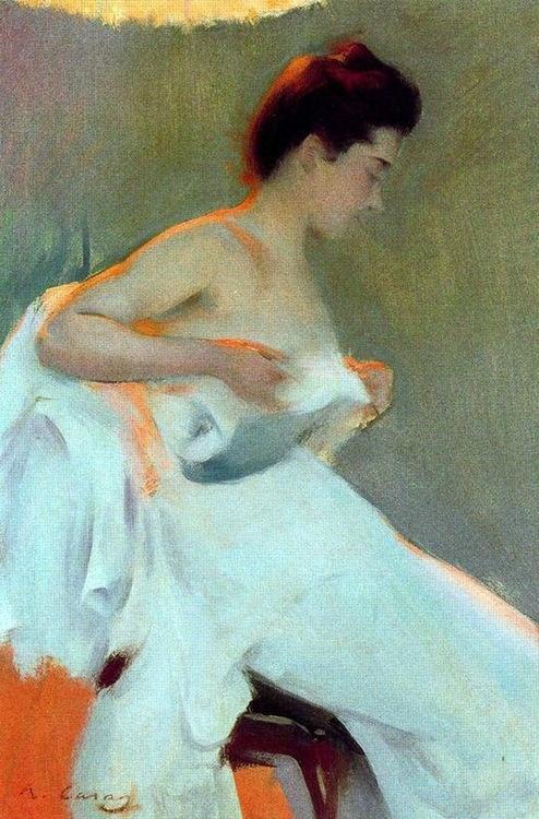 Study of Light, by Ramón Casas i Carbó (Spanish, 1866-1932)