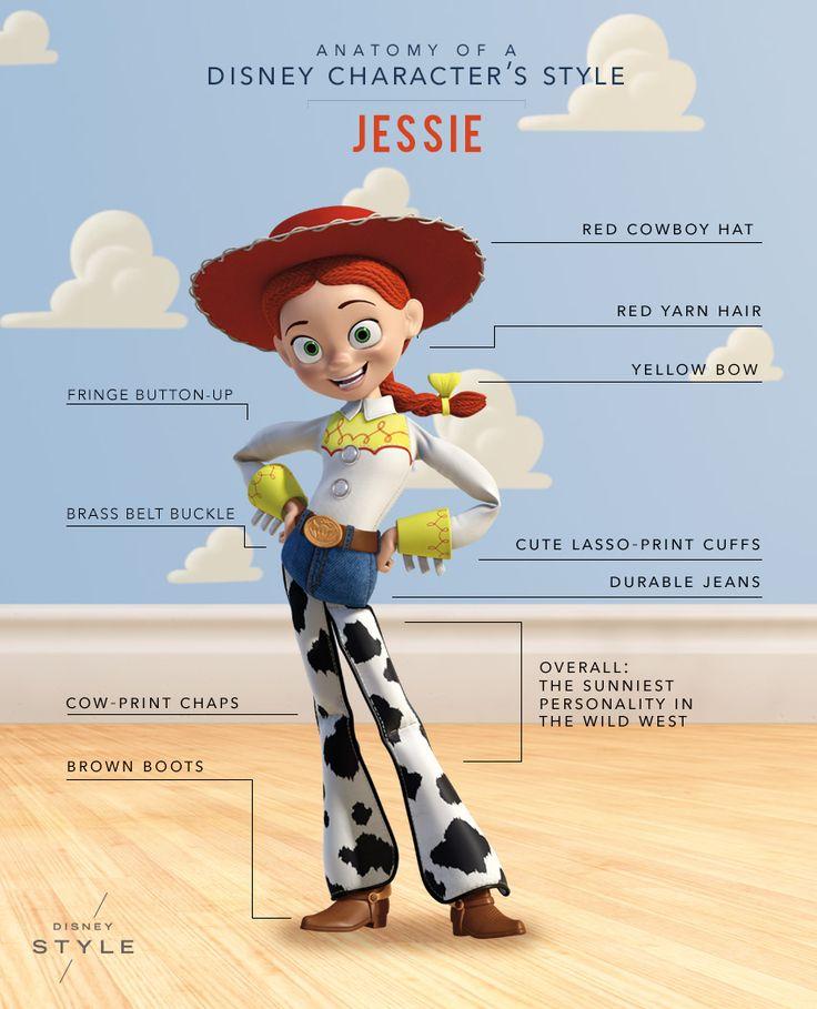 Anatomy of a Disney Character's Style: Jessie | [ http://di.sn/6004BNwKk ]