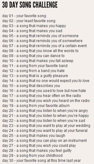 write a song a day challenge